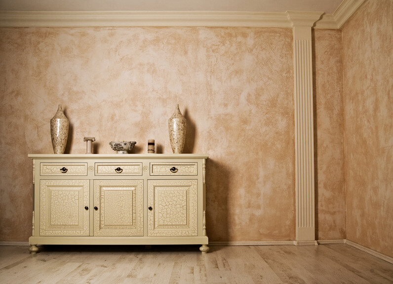 Декоративные краски для стен