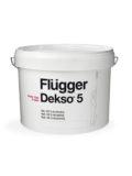 Flugger Dekso 5 акриловая краска, обеспечивающая матовое покрытие с отличными моющими свойствами.